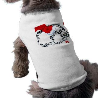 Gatito Kittys de la diversión del día de fiesta de Camisetas De Perrito