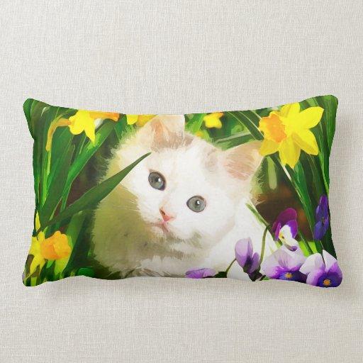 Gatito lindo almohadas