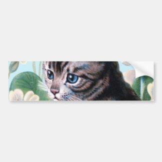 Gatito lindo - arte del gato del vintage pegatina para auto