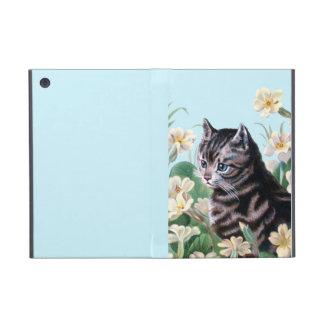 Gatito lindo - arte del gato del vintage iPad mini protectores