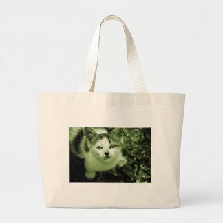 Gatito lindo bolsas de mano