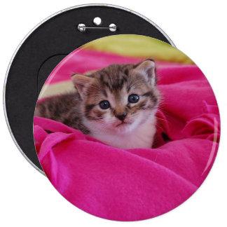 Gatito lindo colosal, botón redondo de 15,2 cm