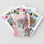 Gatito lindo con los ojos azules cartas de juego