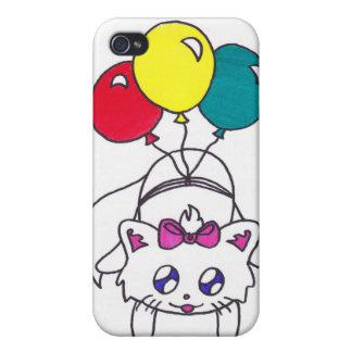 gatito lindo del globo iPhone 4 cárcasa