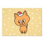Gatito lindo del jengibre que lleva un sombrero comunicados personalizados