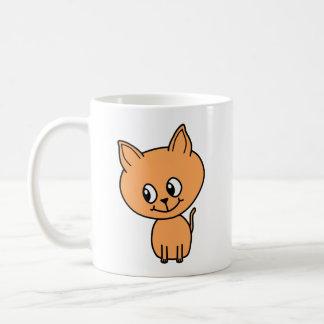Gatito lindo del jengibre taza