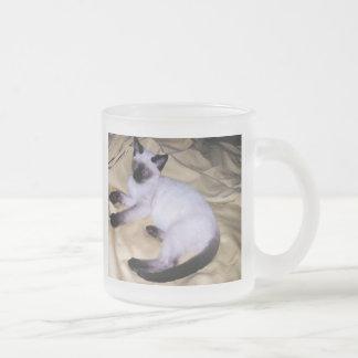 Gatito lindo del mascota animal del arte de la taza cristal mate