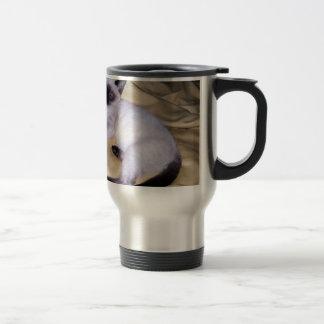 Gatito lindo del mascota animal del arte de la taza de viaje de acero inoxidable