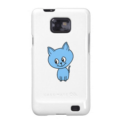 Gatito lindo, en azul galaxy SII fundas