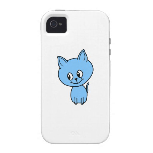 Gatito lindo, en azul vibe iPhone 4 funda