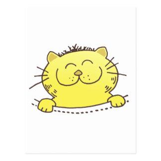 Gatito lindo en un bolsillo postales