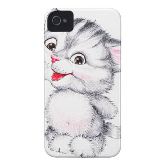 Gatito lindo iPhone 4 Case-Mate protector