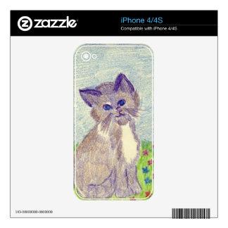 Gatito lindo iPhone 4 skins