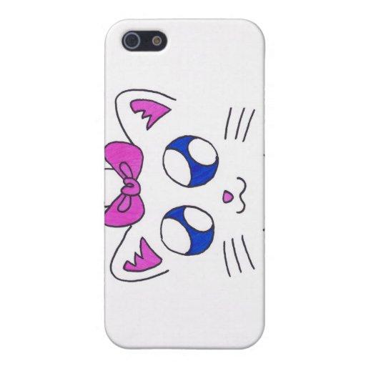 gatito lindo iPhone 5 funda