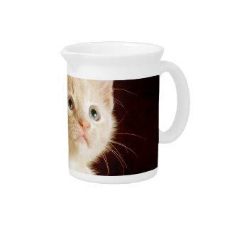 Gatito lindo jarras