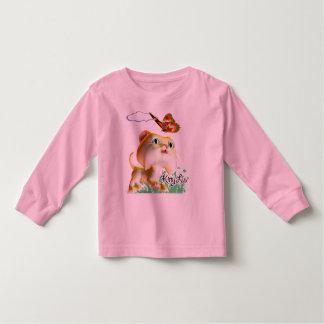 Gatito Luv y mariposa - camiseta del niño Remeras