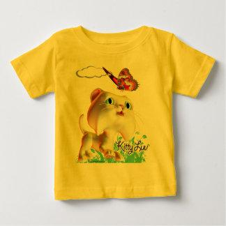 Gatito Luv y mariposa - camiseta infantil Playeras