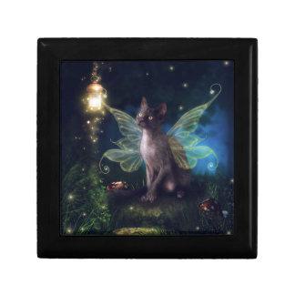 Gatito mágico del Faery Cajas De Regalo