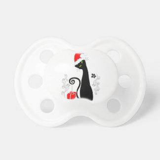 Gatito moderno del navidad chupetes de bebe