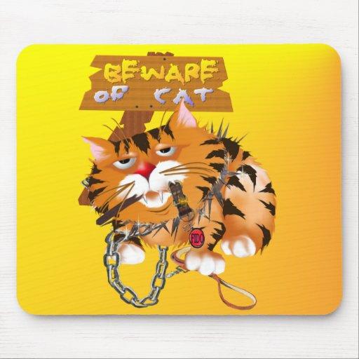 Gatito Mousepad del guardia Tapete De Ratones