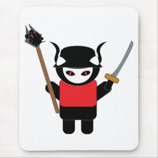 Gatito Mousepad del samurai Tapetes De Ratones