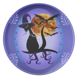 Gatito negro Bewitching Plato De Cena