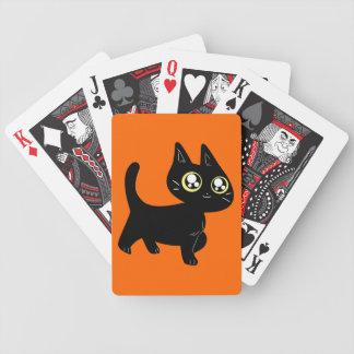 Gatito negro de Halloween Cartas De Juego