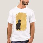 Gatito negro en cuello playera