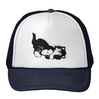 Gatito negro gorros