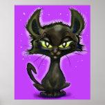 Gatito negro impresiones
