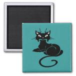 Gatito negro lindo iman