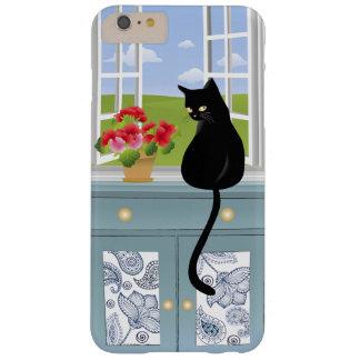 Gatito negro por el caso más del iPhone 6 de la Funda Para iPhone 6 Plus Barely There