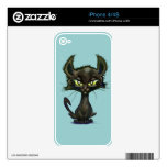 Gatito negro skins para eliPhone 4