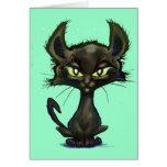 Gatito negro tarjetas