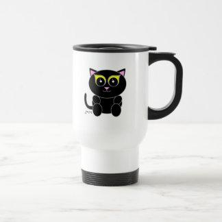 Gatito negro tazas de café