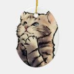 gatito ornamentos de navidad