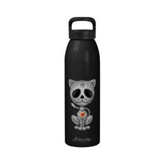 Gatito oscuro del azúcar del zombi botella de beber