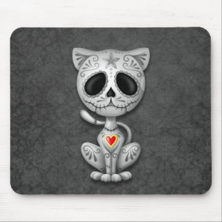 Gatito oscuro del azúcar del zombi tapete de raton