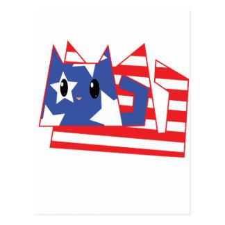 Gatito patriótico postal