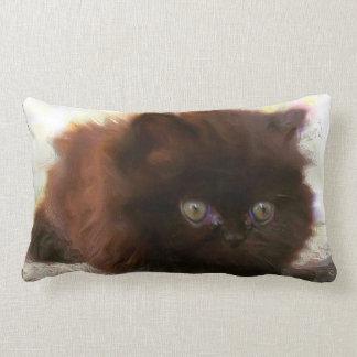 Gatito persa negro almohadas