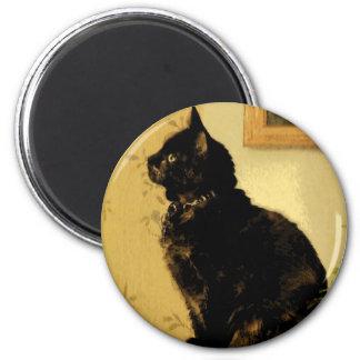 Gatito pintado imán redondo 5 cm