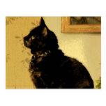 Gatito pintado tarjeta postal