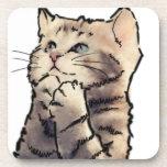 gatito posavasos