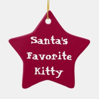 Gatito preferido Orna de Santas Ornato