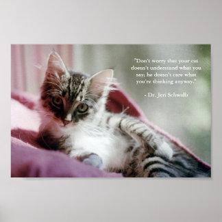Gatito presumido póster