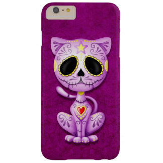 Gatito púrpura del azúcar del zombi funda de iPhone 6 plus barely there