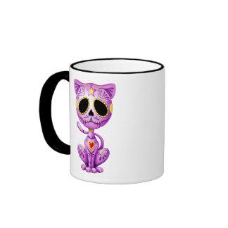 Gatito púrpura del azúcar del zombi tazas de café