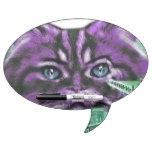 Gatito púrpura pizarra