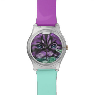 Gatito púrpura relojes de mano
