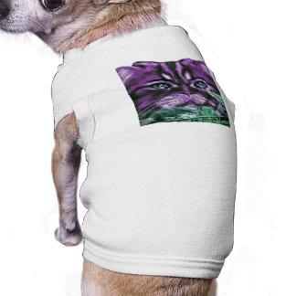 Gatito púrpura ropa de mascota